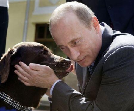 Putin fa Babbo Natale e regala un labrador alla bimba che gli aveva scritto