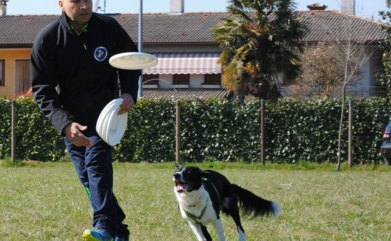 Disc dog, due giorni di stage con Andrea Melpignano