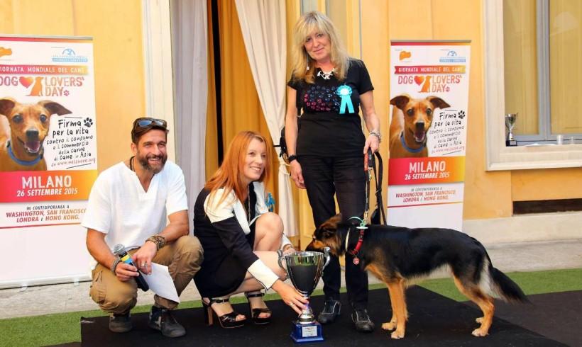 """Cani eroi del terremoto protagonisti al """"Dog Lovers Day"""" a Milano"""
