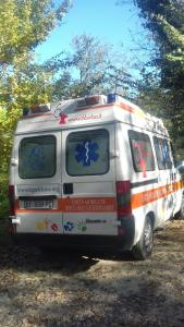 Una delle ambulanze veterinarie di LNDC nelle zone terremotate