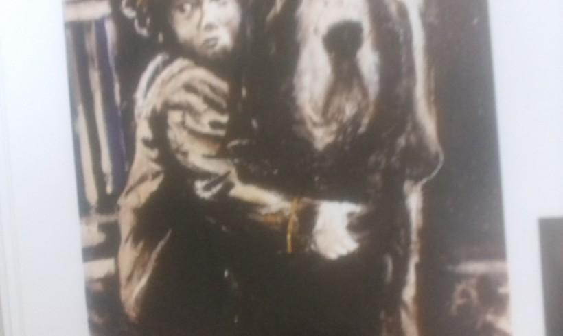 """""""L'amico fedele"""" di Morosi è un bloodhound in bianco e nero. Personale di pittura a Firenze"""