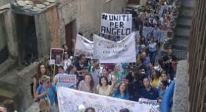 La manifestazione a Sangineto del luglio scorso