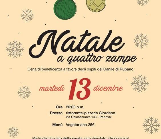 Al canile di Rubano il Natale ha 4zampe: cena benefica con Lndc Padova