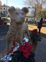 """A Roma una statua per Angelo, messaggio di Brambilla: """"Carcere certo per chi maltratta e uccide gli animali"""""""