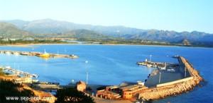 Il porto di Arbatax, teatro dei fatti
