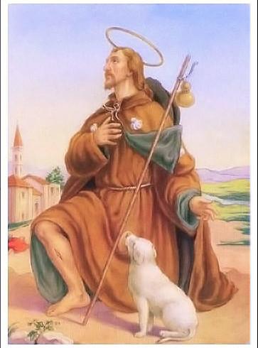 San Rocco, fu un cane a salvarlo e sfamarlo in tempo di peste
