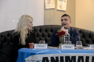 Walter Caporale e Ivana Spagna durante la conferenza stampa. Foto: Flavio Di Properzio (Animalisti italiani onlus)
