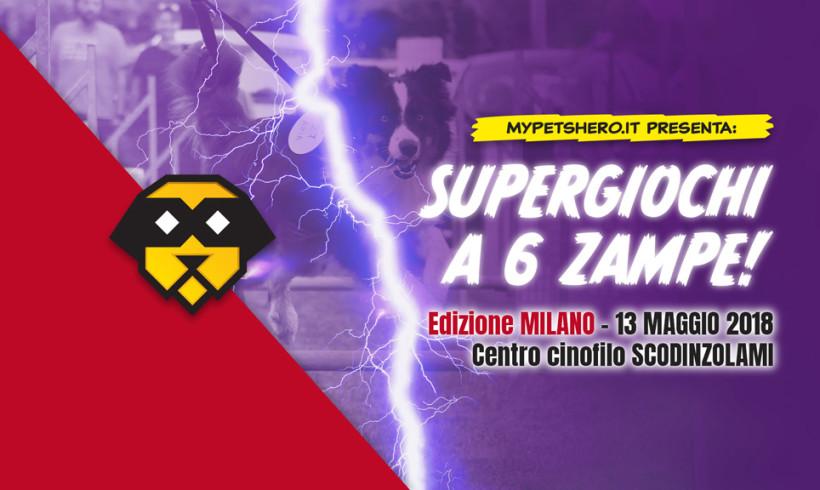 SuperEroi con la coda alla conquista di Milano con i SuperGiochi a 6 Zampe di My Pet's Hero