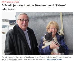 Caruso in braccio alla signora Juncker (Twitter)